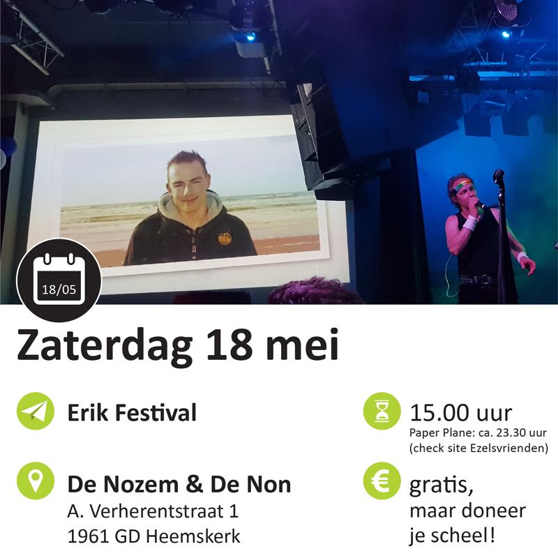 Paper Plane agenda Erik Festival
