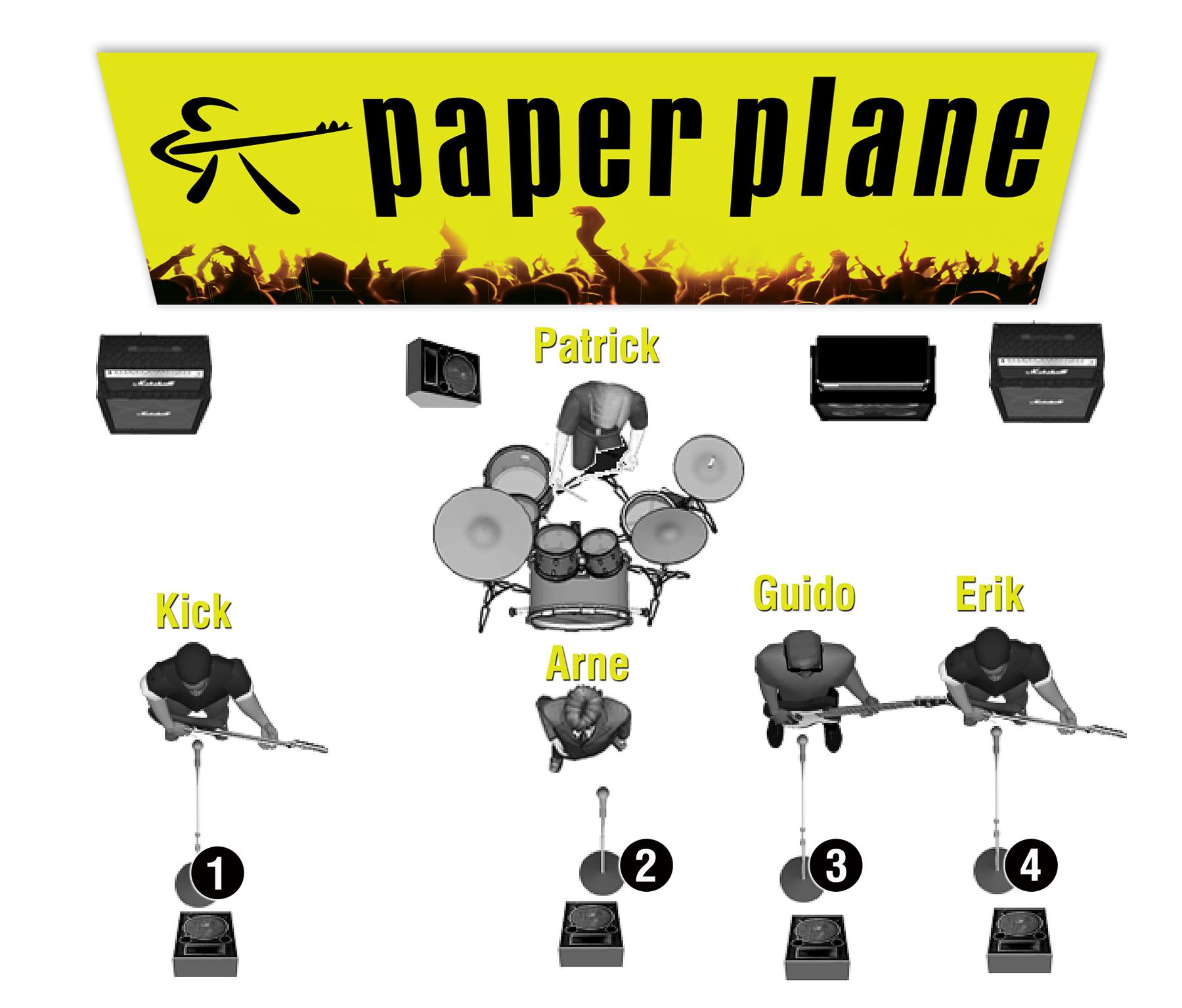stageplan Paper Plane